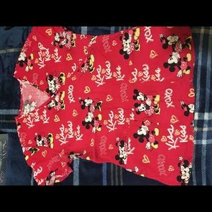 Tops - Mickey Mouse scrub top small